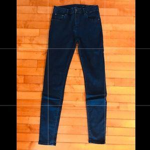 Zara high rise slim fit blue Jeans sz 28